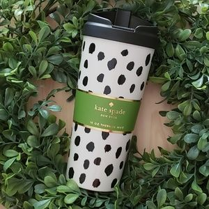 Kate Spade Travel Mug Flamingo Dots